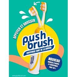 PUSH BRUSH Brosse à dents-Dentifrice intégré